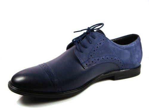 1417737a87 FOX-pánske modré zateplené kožené topánky - Obuv Carmen