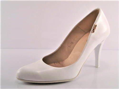 4e23955a93bb Pohodlné svadobné biele kožené lodičky zn.Embis - Obuv Carmen