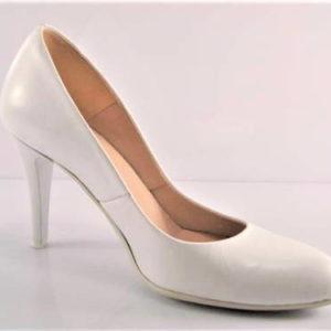 91d9301343 Pohodlné svadobné biele kožené lodičky zn.Embis - Obuv Carmen