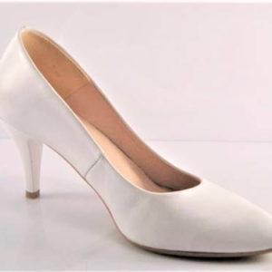 Biele svadobné lodičky na nízkom podpätku - Obuv Carmen 9aedd20f195