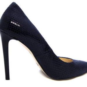 93300d090f0a Vysoké elegantné modré lodičky na podpätku - Obuv Carmen
