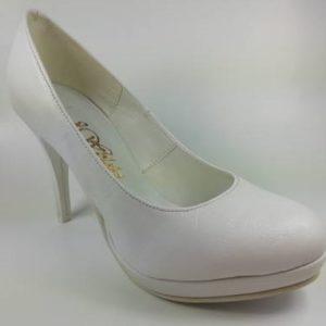 Dámske biele lodičky na platforme zn. J. Wolski - obuv carmen 06a0e1cb614