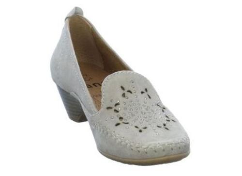 Bledohnedé mokasínové topánky s perforáciou zn.Jana-Obuv Carmen 796d87b7ce6