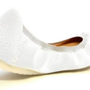 bf2df5d22d654 Komfortné biele kožené balerínky zn.Embis - Obuv Carmen