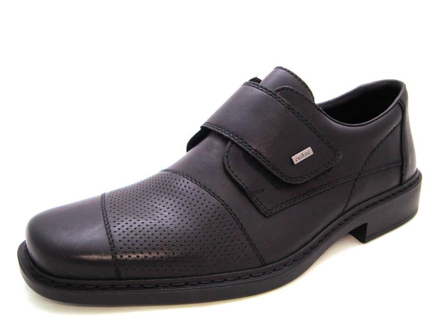 Klasické pohodlné kožené topánky na suchý zips zn. Rieker - Obuv Carmen 768b36be8c6
