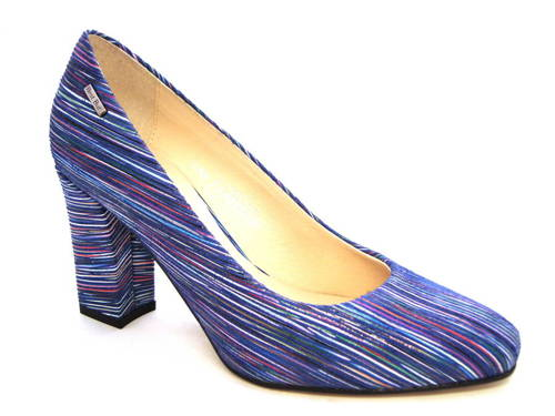 bf38354ef359 Farebné vychádzkové kožené topánky na podpätku - Obuv Carmen