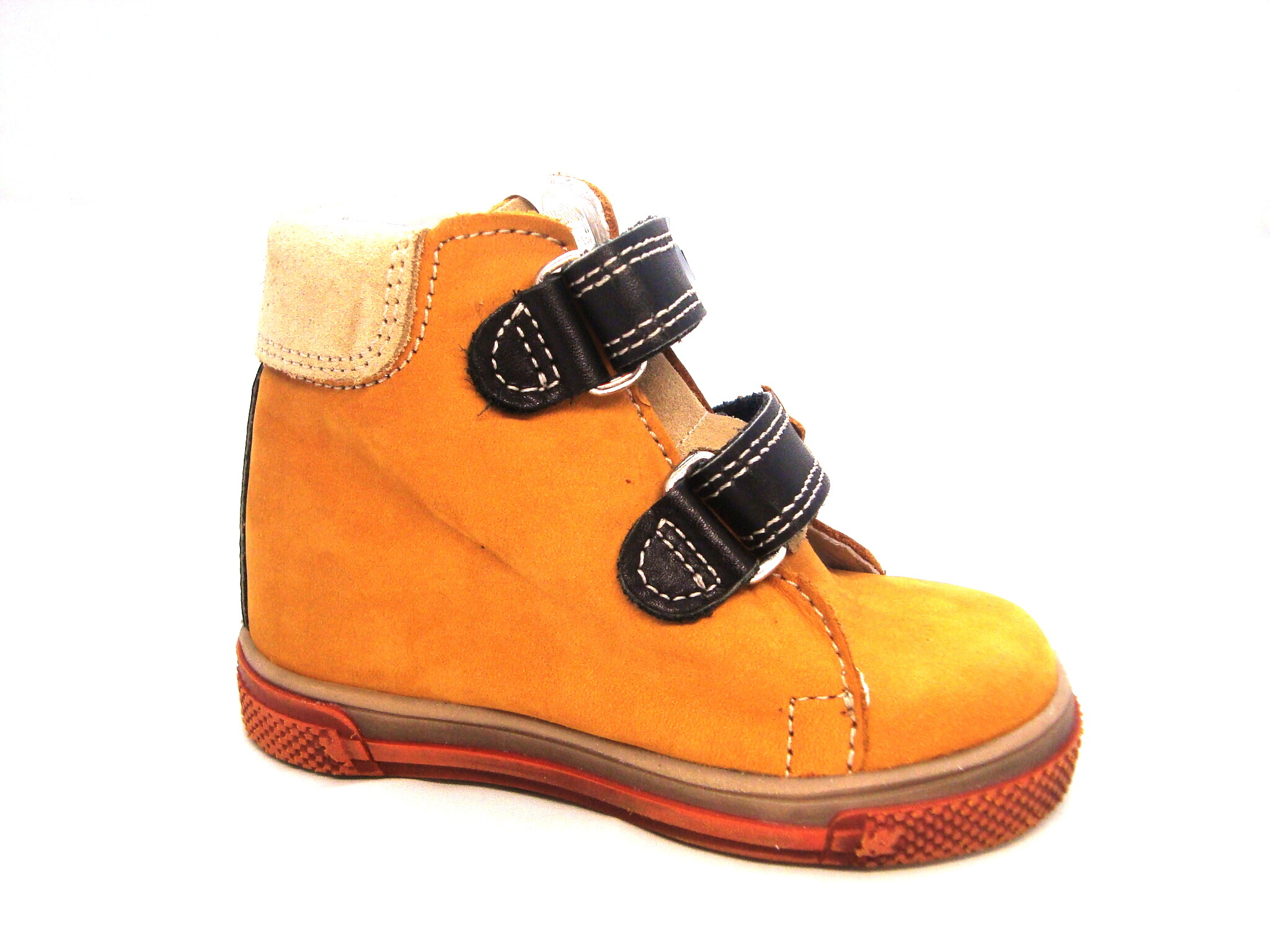 Wanda-chlapčenské kotníkové topánky horčicovej farby - Obuv Carmen afd87b61853