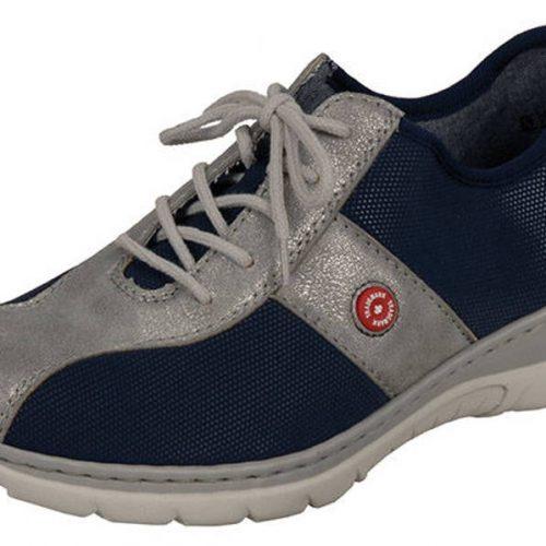 Rieker - kožené modro-sivé športové topánky - Obuv Carmen 227a8f1881b