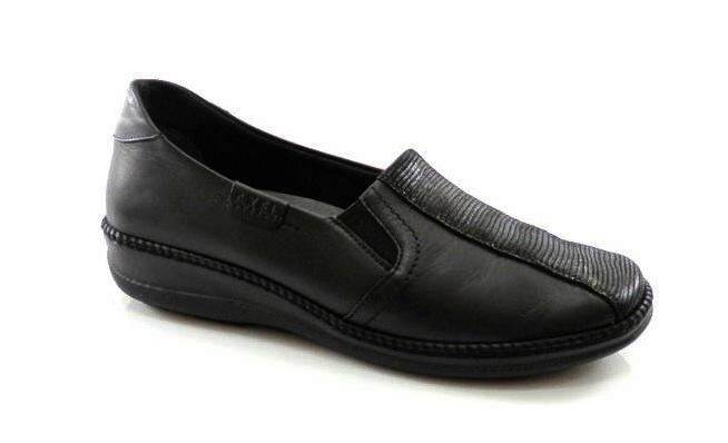 12ddf7bd9f188 Čierne kožené zdravotné vychádzkové topánky - Obuv Carmen