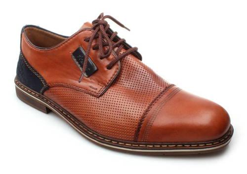 db017fc545c74 Rieker - hnedo-modré pánske šnurovacie topánky - Obuv Carmen