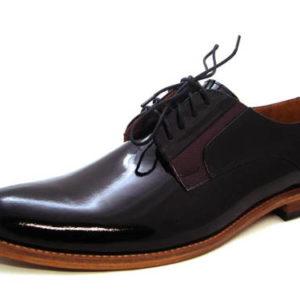 4172fd5e9 Luxusné pánske lakované topánky s koženou podrážkou - Obuv Carmen