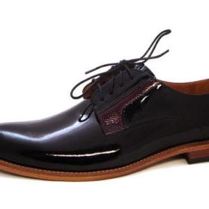 024772527 Luxusné pánske lakované topánky s koženou podrážkou - Obuv Carmen