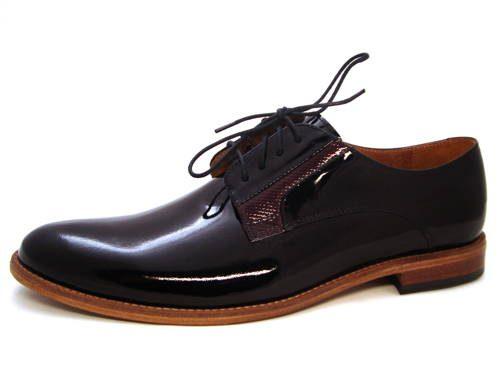 021af81d25fc Luxusné pánske lakované topánky s koženou podrážkou - Obuv Carmen