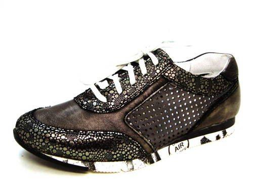 953f8eeae0b0a Metalické-zlaté kožené športové perforované topánky