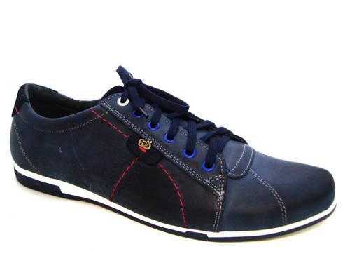 f2e891c09c26 Trendové modré kožené šnurovacie športové topánky - Obuv Carmen
