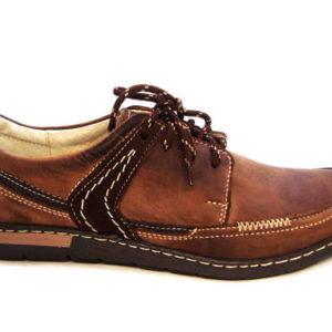 Klasické hnedé športovo-elegantné pánske šnurovacie topánky - Obuv ... 82608ef1162