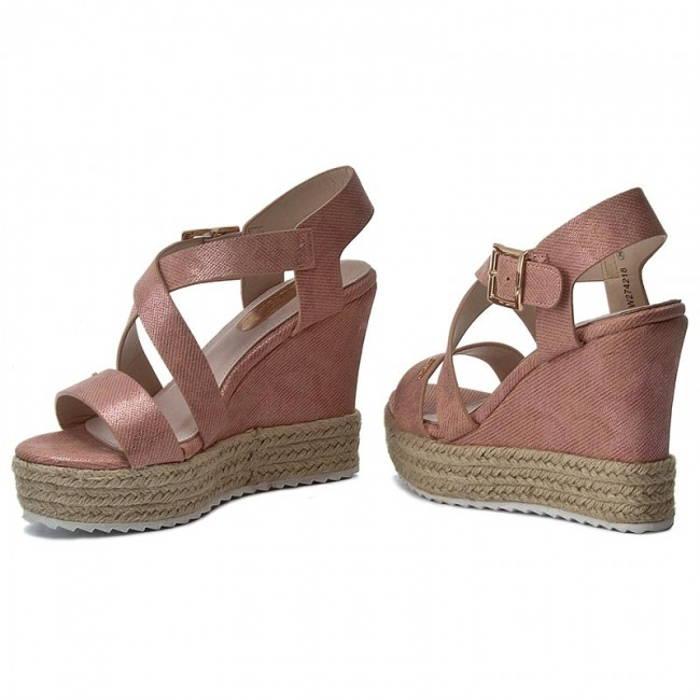 956f1a9e78f8 Big Star - púdrovo - ružové sandále na klinovom podpätku - Obuv Carmen