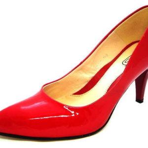 5d4bd6911262 Červené lakované pohodlné lodičky zn.Embis - Obuv Carmen