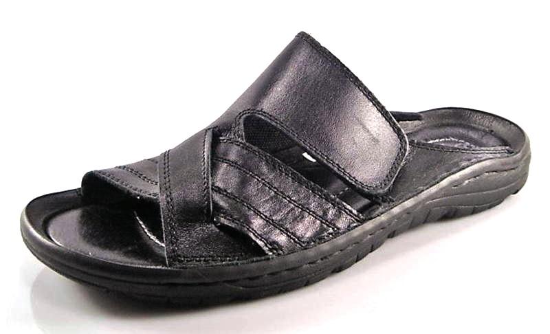 98bf0386b03a6 Čierne pohodlné pánske kožené šľapky zn.Rammit - Obuv Carmen