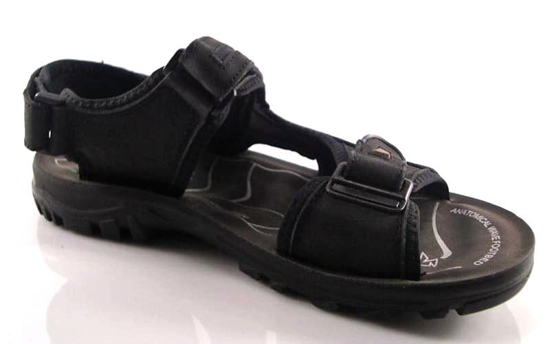 fed491219a985 Wink-pánske čierne kožené vychádzkové sandále - Obuv Carmen