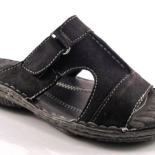 c572388956 Wink-čierne pohodlné pánske kožené šľapky