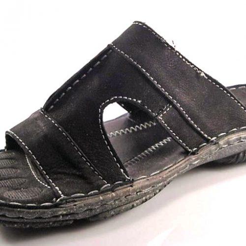 bbda30a9dcbbf Wink-čierne pohodlné pánske kožené šľapky - Obuv Carmen