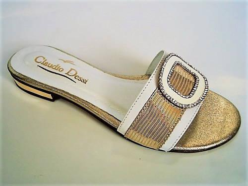 76145a7fcd Claudio Dessi-elegantné zlaté kožené šľapky - Obuv Carmen