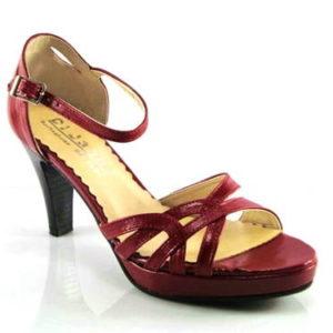 447677605181 Dámske červené remienkové tanečné sandálky - Obuv Carmen