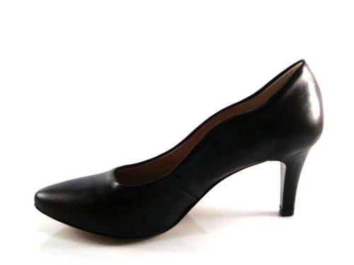 546c40aa9438 Pohodlné čierne matné lodičky na nízkom podpätku