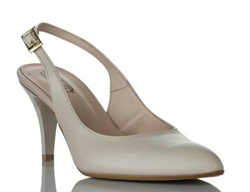 a0fca7e9b6d Svetlo béžové sandálky na nízkom tenkom podpätku zn.Embis