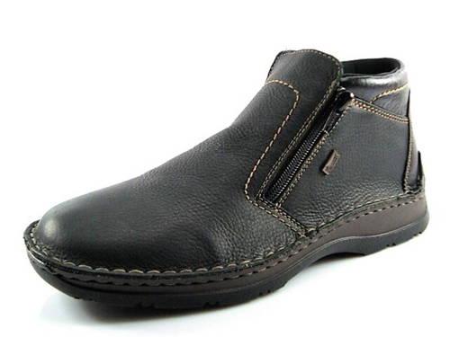 Rieker-čierna kožená pohodlná zateplená obuv - Obuv Carmen b3a96aafbd8
