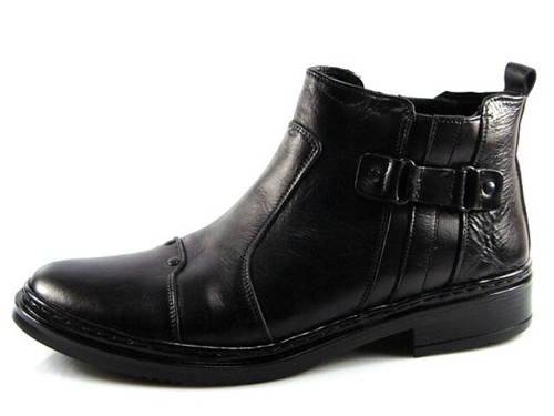 4f382a481 Elegantné čierne pánske zateplené čižmy- Obuv Carmen