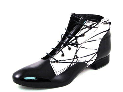 6fbcc7612 Štýlové dámske bielo/čierne kotníkové topánky zn.Maccioni