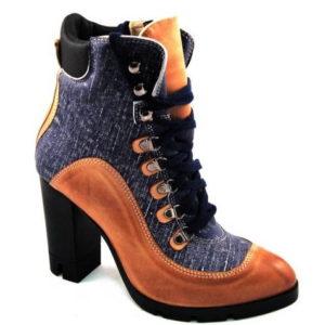 0b4d1483b81fc Kožené šnurovacie kotníkové čižmy v dvoch farbách - Obuv Carmen