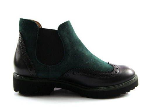 94e934199 Kvalitné zeleno/čierne kotníkové topánky