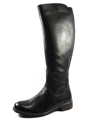 0ea1cc70b469 Čierne kožené čižmy na nízkom podpätku zn.Klondike - Obuv Carmen