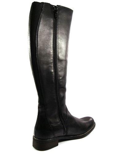 c6e4029f8d9c7 Čierne kožené čižmy na nízkom podpätku zn.Klondike - Obuv Carmen