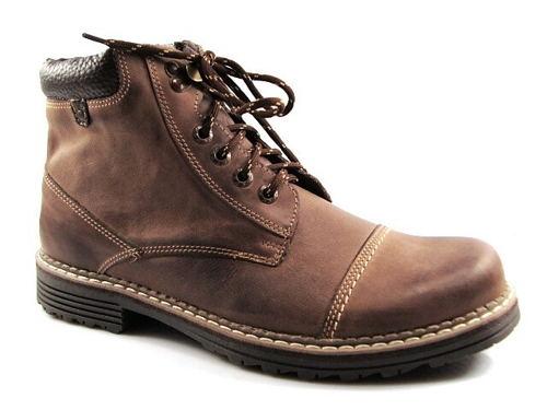 ba924c706 FOX-hnedé zateplené pánske kožené topánky - Obuv Carmen