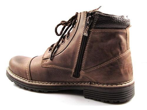 FOX-hnedé zateplené pánske kožené topánky - Obuv Carmen 339f7a5b3b9