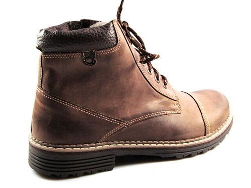 5583cea57d05 FOX-hnedé zateplené pánske kožené topánky - Obuv Carmen