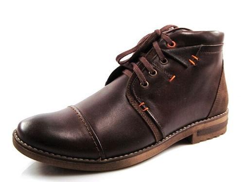 9e28dd81ffb8 FOX-čokoládovo hnedé zateplené kožené topánky - Obuv Carmen