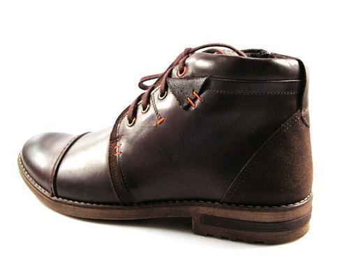 20686f1f9d5f7 FOX-čokoládovo/hnedé zateplené kožené topánky - Obuv Carmen