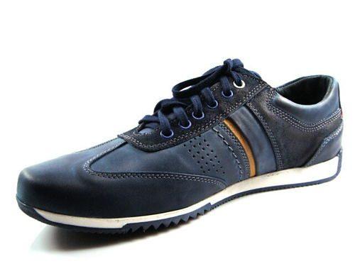 d69c64c26d FOX-modré kožené šnurovacie topánky