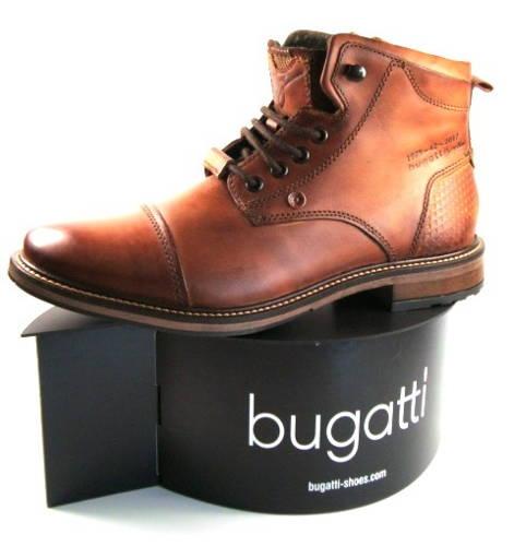Bugatti-hnedé cognac  šnurovacie kotníkové čižmy-Obuv Carmen bb5545dee38