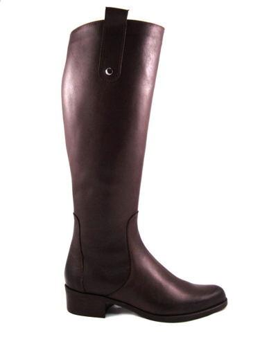 ACORD-čokoládovo hnedé čižmy na nízkom podpätku - Obuv Carmen db17943b712