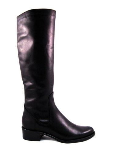 4984ad54ed8c Čierne kožené čižmy na nízkom podpätku s XS-sárou-Obuv Carmen