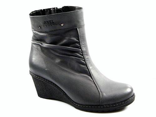 918e9e699a Axel-zimná kožená obuv na klinovom podpätku