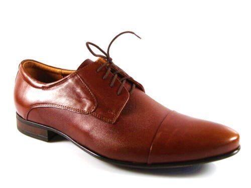 b46584b04d49 Pánske muškátovo hnedé kožené spoločenské topánky