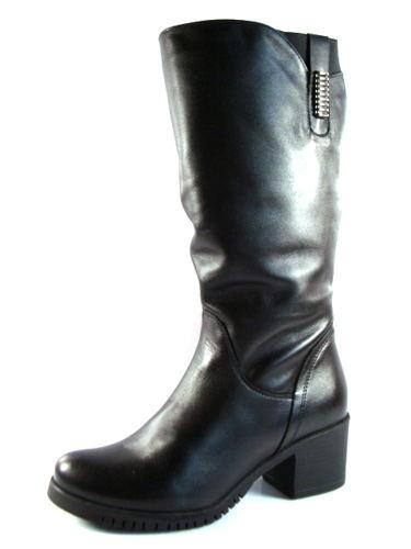 694bb0e74093 Čierne kožené čižmy pre širšie chodidlá zn.Nero Rossi-Obuv Carmen