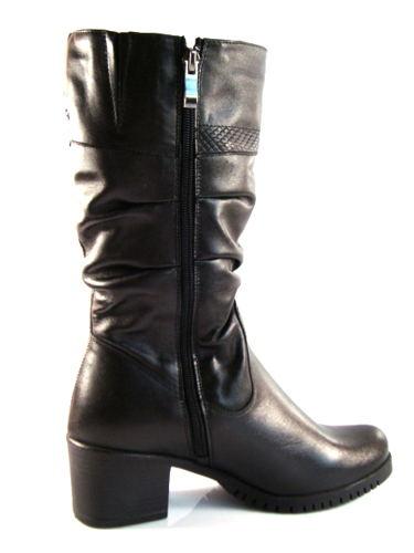 df05c9ddb0 Čierne kožené čižmy pre širšie chodidlá zn.Nero Rossi-Obuv Carmen